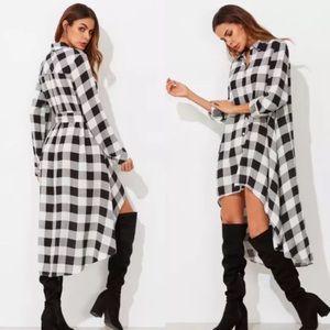 Dresses & Skirts - New Plaid High Low Dress